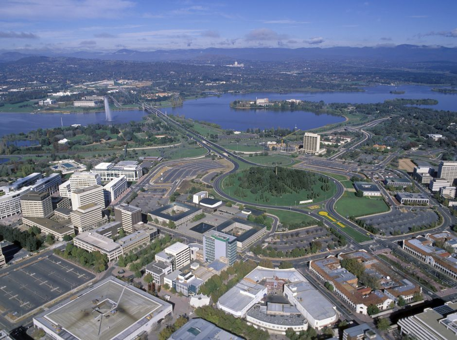 Canberra from the air