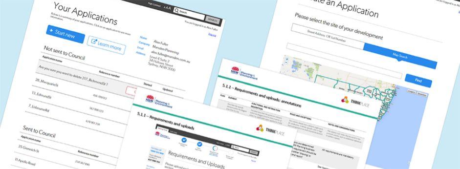 Screenshots of website prototype