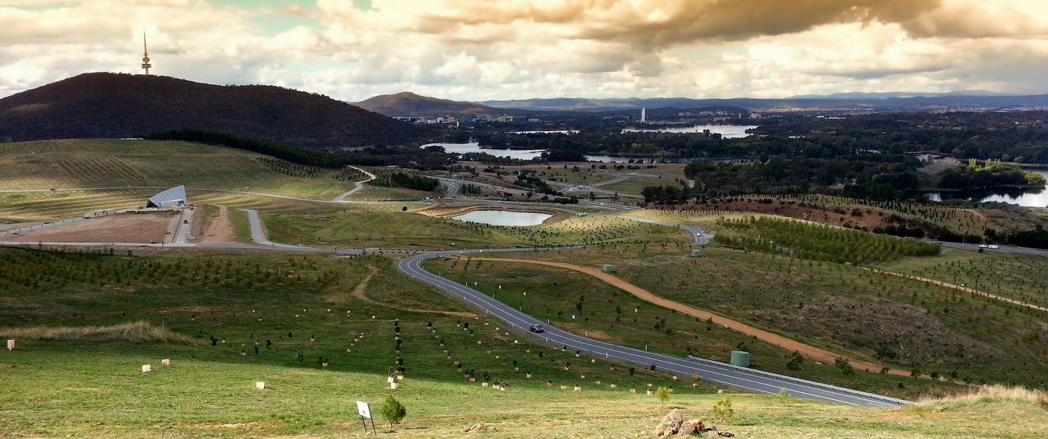 Canberra city seen from the Canberra Arboretum