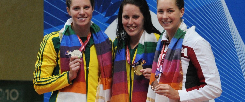 Gold medal dais