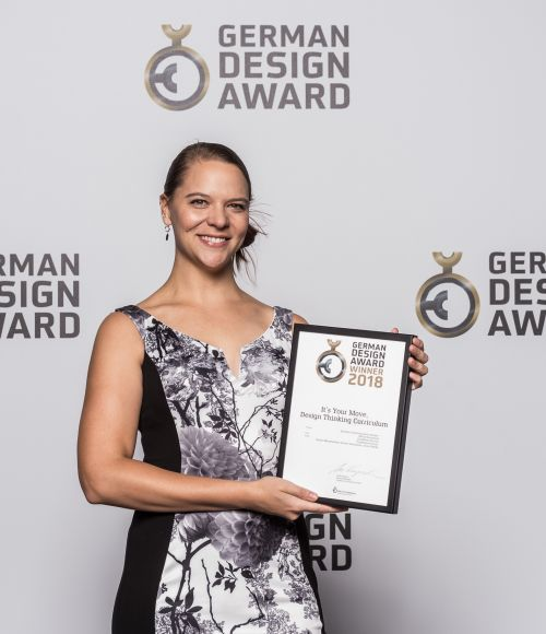 Kerstin Oberprieler with her German Design Award